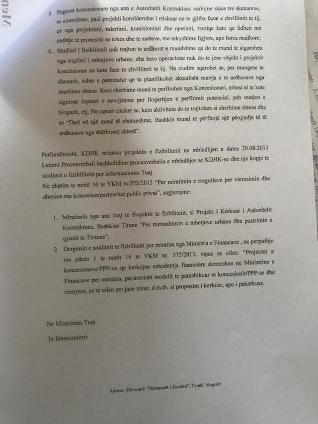 Dokumentet/ Basha firmosi në 2013-ën t'ia jepte plehrat privatit