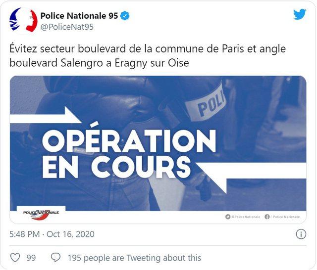Sulm i dyshuar terrorist në Paris