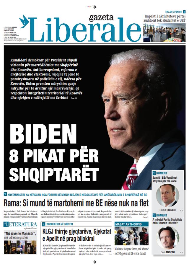 Shtypi/ Titujt kryesorë të gazetave për datën 19 tetor 2020