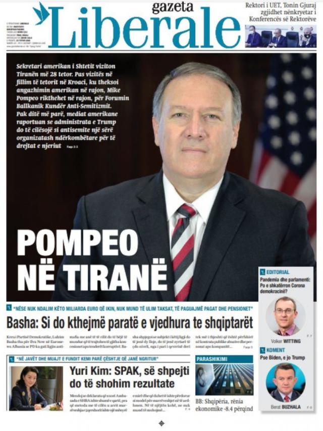 Shtypi/ Titujt kryesorë të gazetave për datën 23 tetor 2020