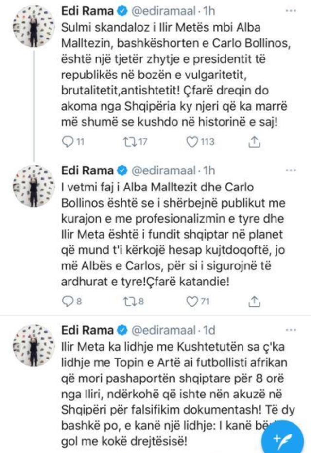 Sulmi skandaloz i Ilir Metës mbi Alba Malltezin, bashkëshorten e Carlo