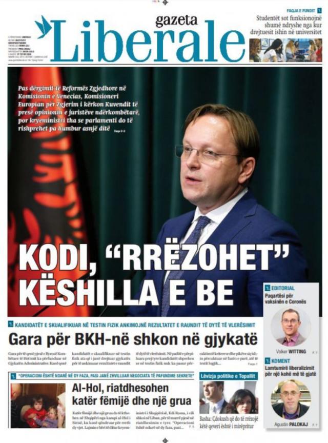Shtypi/ Titujt kryesorë të gazetave për datën 27 tetor 2020