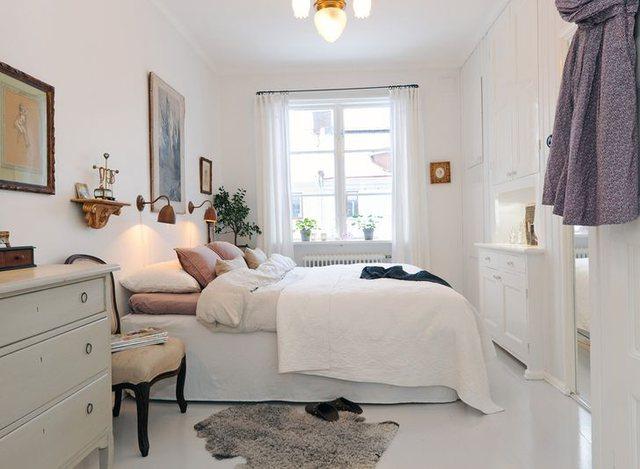 Ide të zgjuara për një dhomë gjumi të vogël