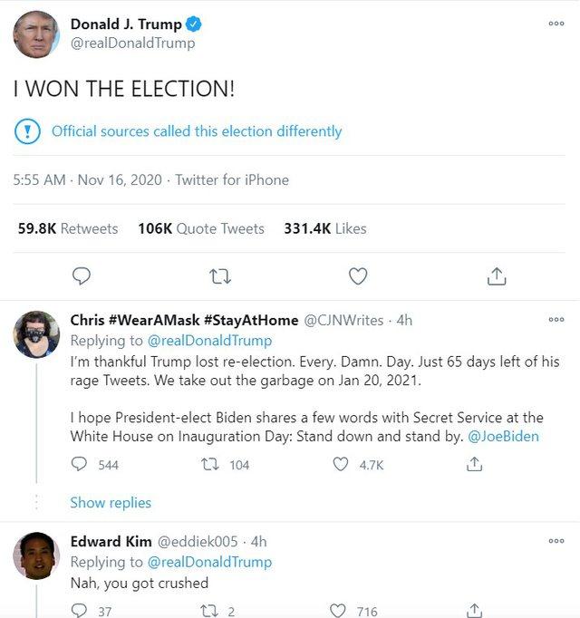 """""""Unë i fitova zgjedhjet"""", postimi i Donald Trump nxit"""