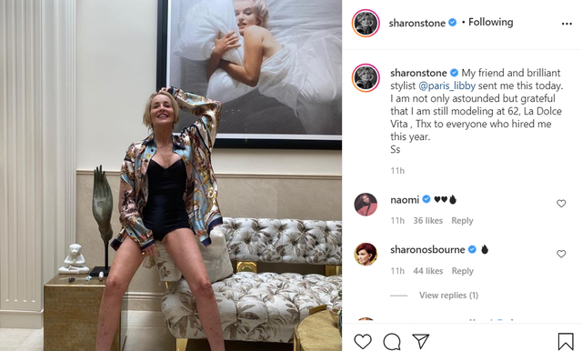 Sharon Stone 62 vjeçe, por nuk i lë asgjë mangët