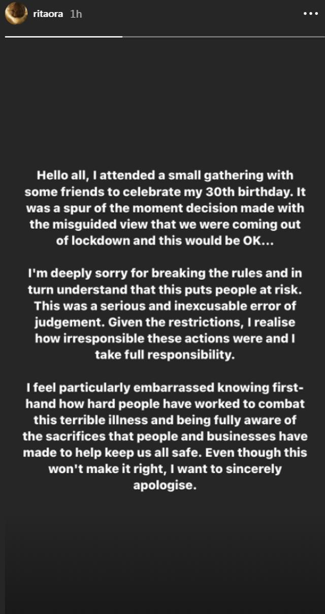 Festoi ditëlindjen me shumë të ftuar, Rita Ora kërkon falje