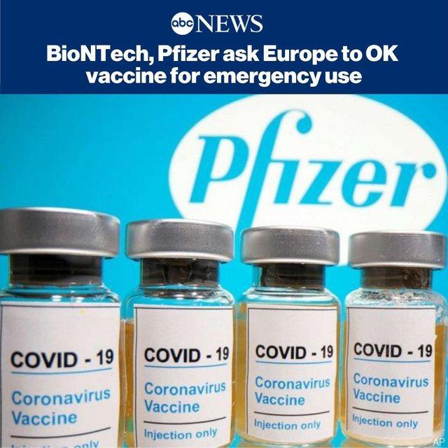 Pfizer dhe BioNTech kërkojnë miratimin e vaksinave anti-Covid në