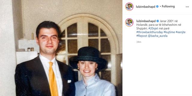 Fotoja para 20 vjetësh, Lulzim Basha dhe Aurela në Holandë