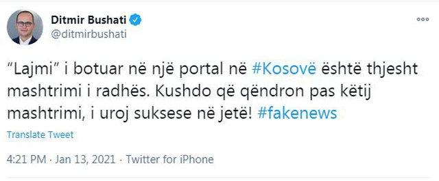 The news of the Kosovar portal is just another hoax. I wish success to everyone