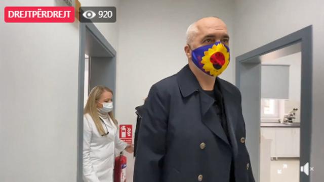 The Prime Minister reacts to the Sanatorium Sanitation: Shy character