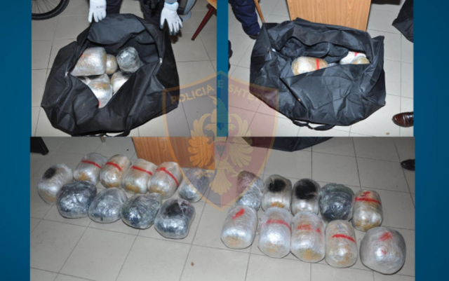 Tentuan të kalonin 21 kilogramë kanabis në Greqi, arrestohen dy