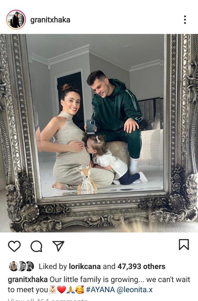 Granit Xhaka po bëhet sërish baba