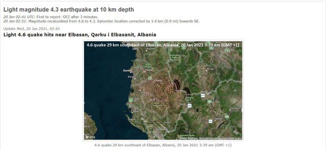 Lëkundje tërmeti në Shqipëri, ja ku ishte epiqendra