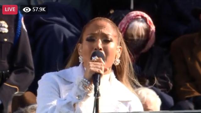Video/ Kënga domethënëse e Jennifer Lopez në inaugurimin e