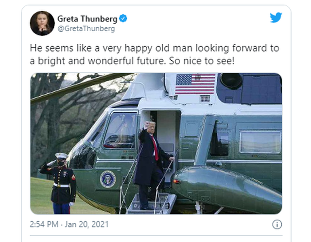 Greta Thunberg nuk harron ti përcjellë Trump-it një mesazh me