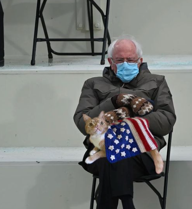 Pse fotoja e Bernie Sanders i preku të gjithë, përfshi dhe Dua