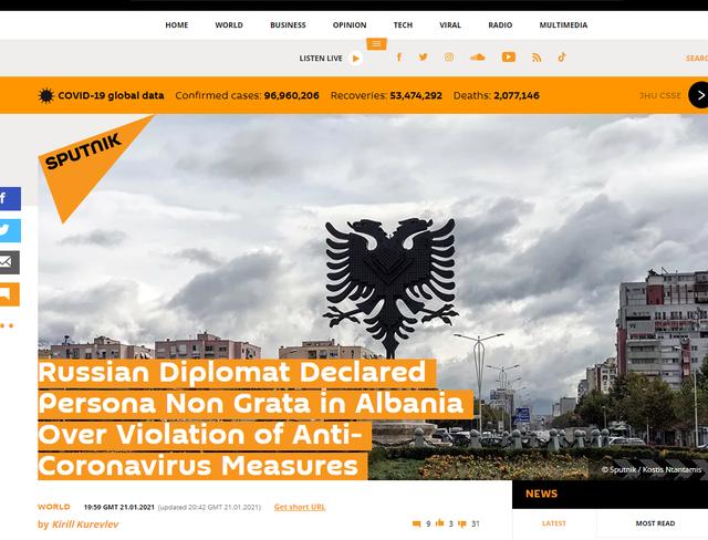 U shpall non grata nga qeveria, mediat ruse: Ambasada e konsideron të