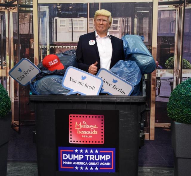 Muzeu i famshëm e fut Trump-in në kosh mbeturinash