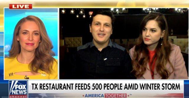 Video/ Pa drita nën akull, pronari shqiptar i restorantit ofron vakte falas