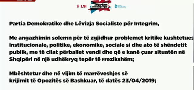 PD-LSI firmosin marrëveshjen për koalicionin, listat e ndara në