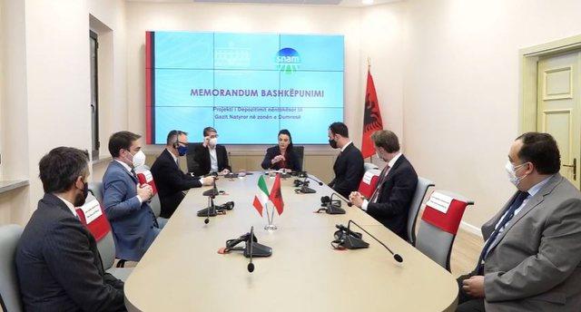 Balluku firmos Memorandumin për Projektin e Depozitimit të Gazit