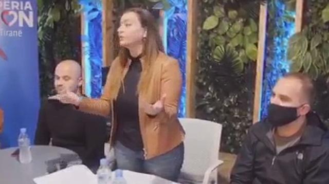 Video/ Kërkon vota për t'u bërë deputete, Albana