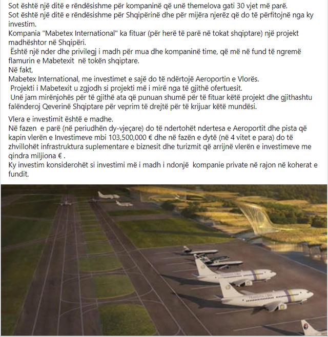 Do ndërtojë Aeroportin e Vlorës, biznesmeni Behgjet Pacolli: Do
