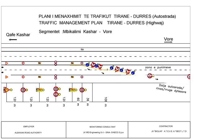 Works on the Tirana-Durrës Austrada. From Wednesday changes the movement of
