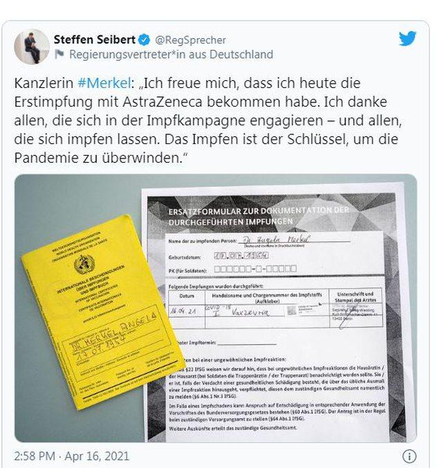 Vaksinohet Merkel me AstraZeneca: Nuk ka foto, por një shënim