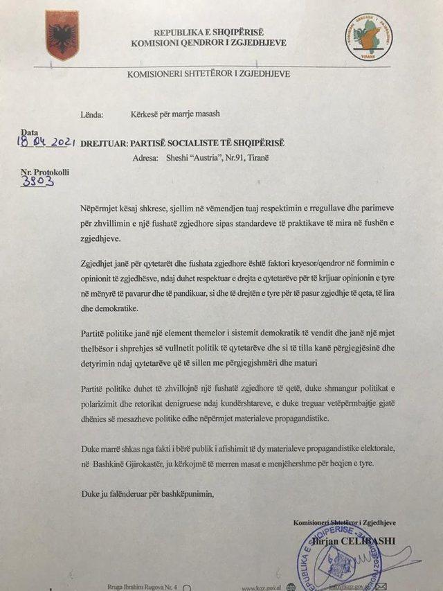 KQZ kritikon banerat e PS pas 'kërcënimit' të