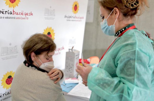 Sa përqind e popullsisë shqiptare është vaksinuar: 20