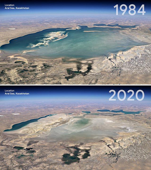 Si e kemi ndryshuar Tokën? Google Earth poston fotot krahasuese