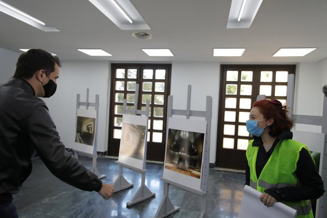 Veliaj and Minister Margariti inspect the works in the new concert hall of the