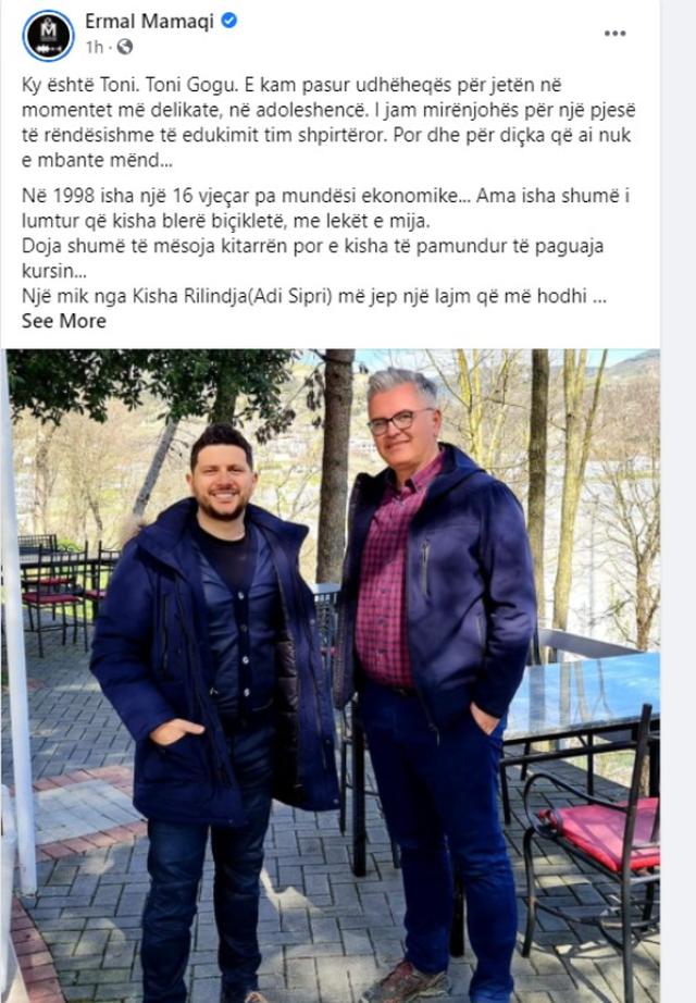 Ermal Mamaqi kthehet 23 vite pas dhe zbulon njeriun që fshehurazi i pagoi