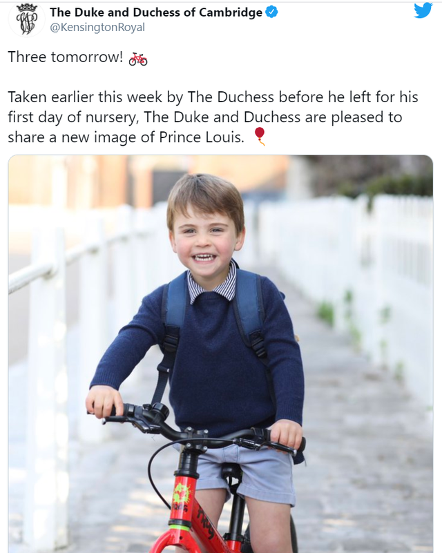 Louis's newest postcard that turns 3 today reveals some details about him
