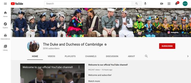 Nga ky moment, Kate dhe William kanë një kanal në YouTube. Po
