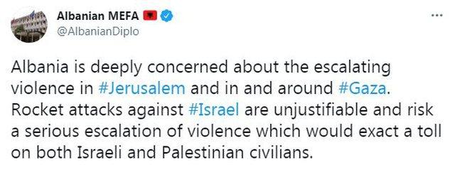 Ministria e Jashtme për konfliktin me raketa në Rripin e Gazës: