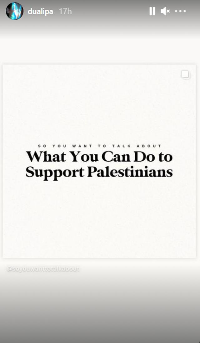Kundër Izraelit, Pro Palestinës së Lirë. Dua Lipa dhe