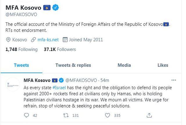 Ministria e Jashtme e Kosovës për luftën në Rripin e