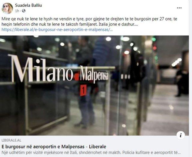 Gazetarja shqiptare rrëfen si u mbajt 27 orë në aeroportin e