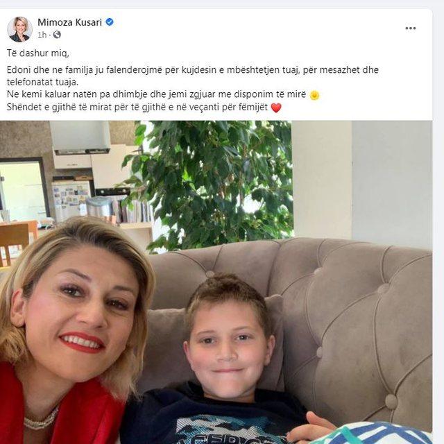 Kryetarja e grupit parlamentar të VV, poston fotot e të birit që