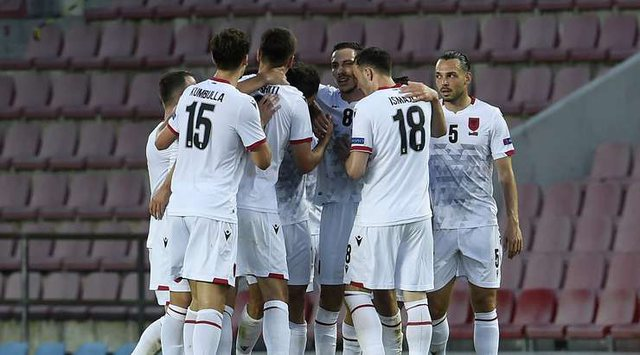 The friendly in Prague / Czech Republic defeats Albania with the result 3-1