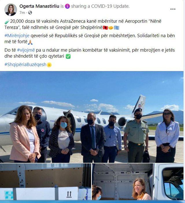 Greqia i dhuron Shqipërisë 20 mijë vaksina AstraZeneca, sa
