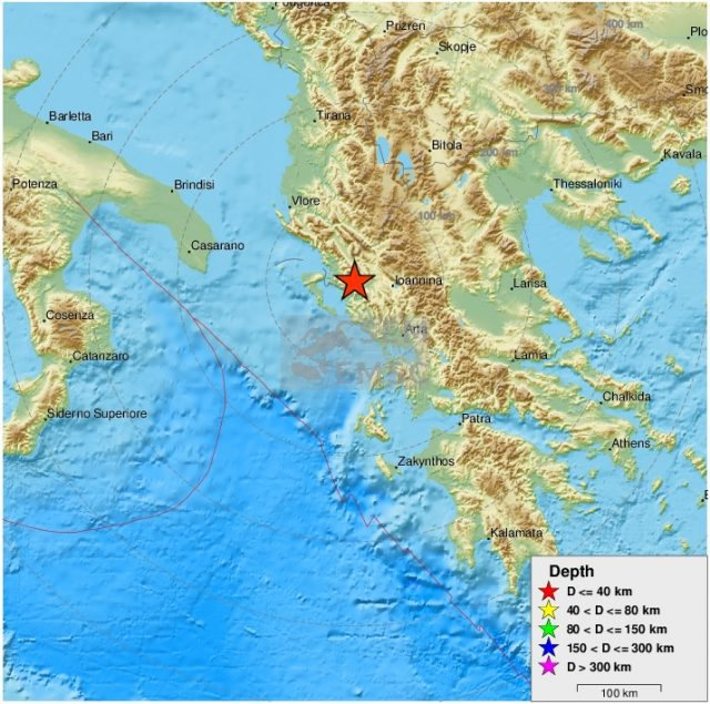 Lëkundjet e tërmetit në Greqi ndihen deri në Shqipëri,