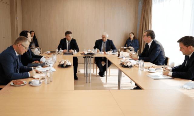 Mbyllet takimi Kurti-Vuçiç në Bruksel, përgjigjja e