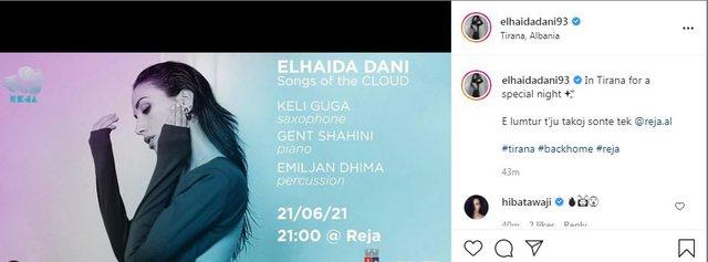 Elhaida Dani nga retë e Tajvanit tek Reja sonte në Tiranë