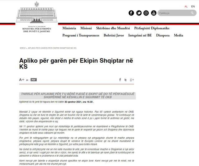 Shtyhen aplikimet për të qenë pjesë e ekipit shqiptar