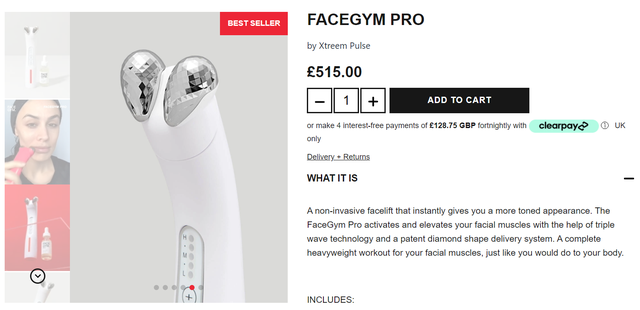 The device that does facial gymnastics and those who should not use it