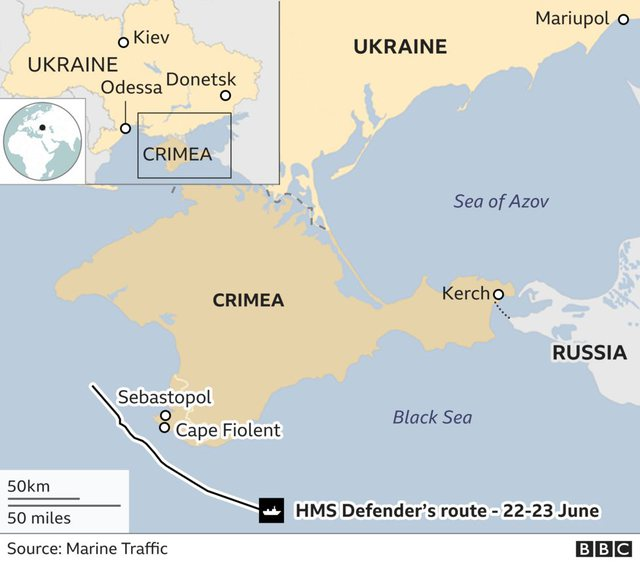 Russia hits British ship? The news that shook the world for a few minutes, but