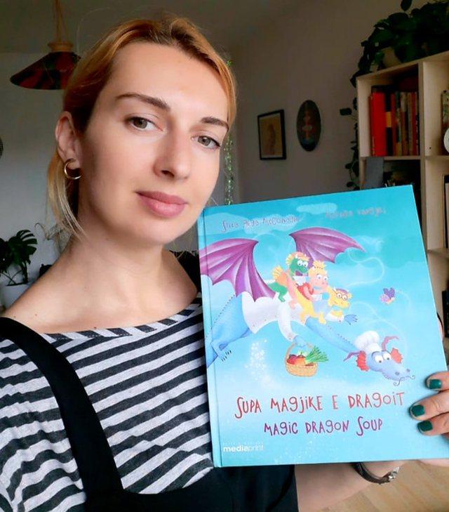 Illustrator Ledia Kostandini is honored by the international board of